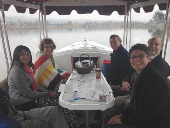 Senator Lois Wolk tours the Napa River