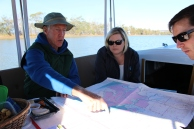 Mapping new Water Trail locations with FONR's Barry Christian, Mary Luros (Napa City Council) and Ben Botkin (ABAG).