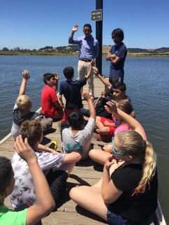 Napa County Supervisors Pedroza (pictured here) and Wagenknecht talked to the kids about civic engagement and the River